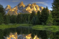 Sunrise on the Grand Tetons at Schwabacher Landing