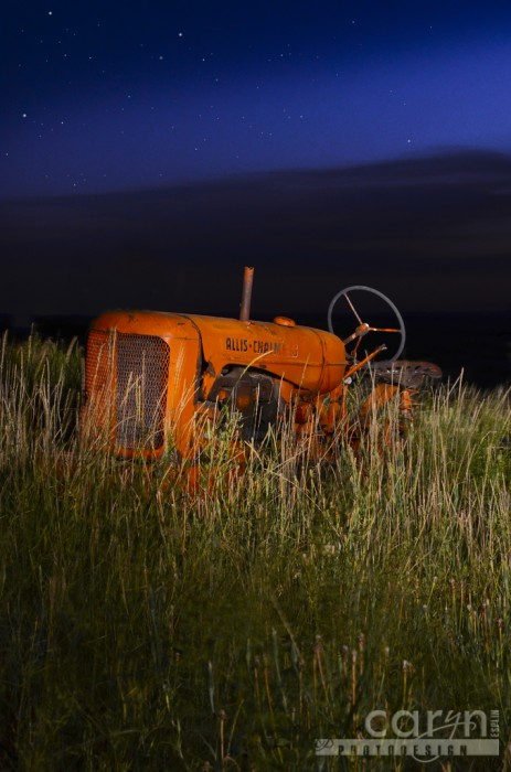 Caryn Esplin - Allis Chalmers Tractor - Light Painting
