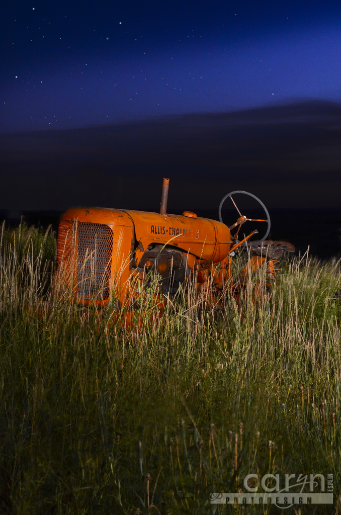 Light Painting The Roofless Barn Trike And Tractor