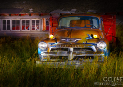 Light Painting with Camera Raw in Post Production on the Old Chevy
