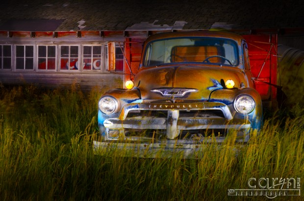 Caryn Esplin - Light Painting - Old Chevy Truck