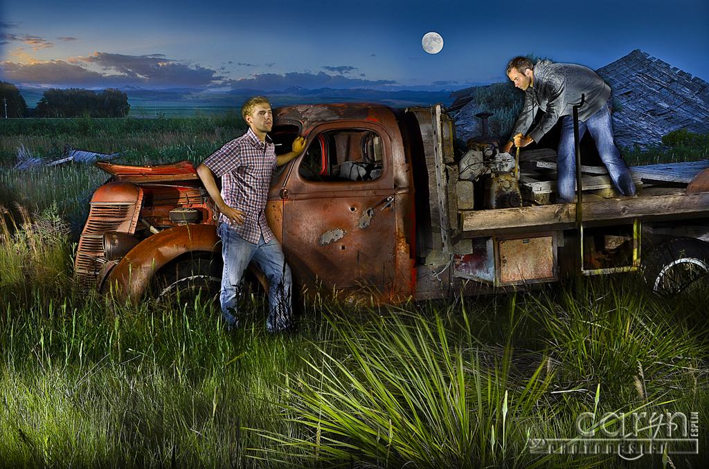 My First Light Painting With People Grandpa S Ghost Truck