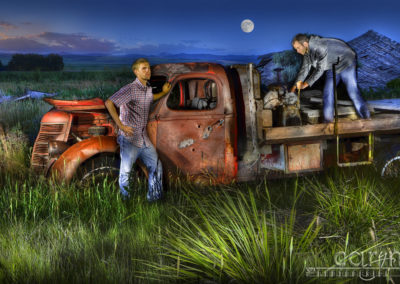 My First Light Painting with People: Grandpa's Ghost Truck