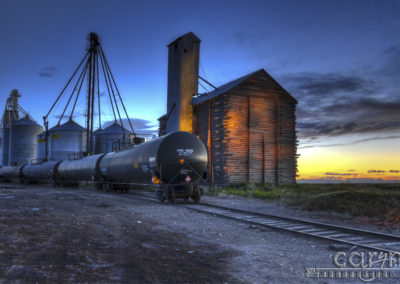 Rexburg Graineries – Combination of Bracketing, Light Painting, HDR and Camera Raw