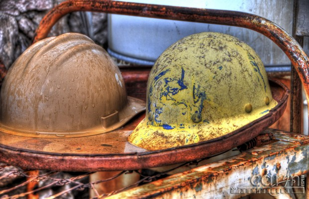 Caryn Esplin - Goldminer's Helmets - Gold Eye Mine, Quartzsite, Arizona