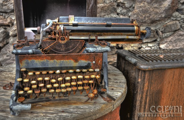 Caryn Esplin - Goldminer's Typewriter - Eagle Eye Mine - Quartzsite, Arizona