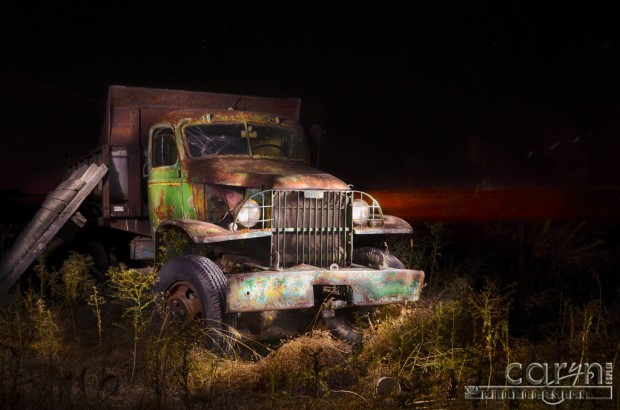 Caryn Esplin - Idaho Farm Truck - Manure Spreader - Light Painting
