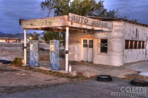Caryn Esplin - HDR Light Painting - Gas Pumps - Quartzsite, Arizona