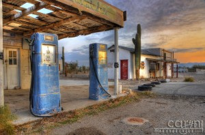 Caryn Esplin - Old Gas Pumps - Quartzsite, Arizona Main Street