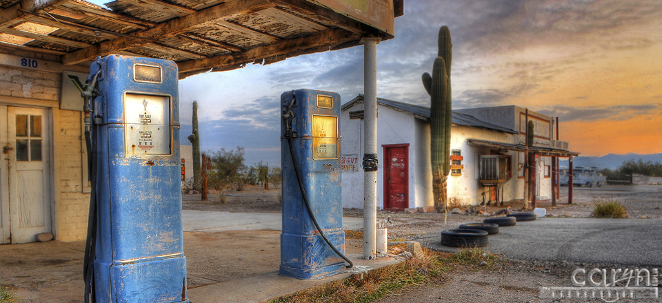 Old gas pumps – Quartzsite, AZ