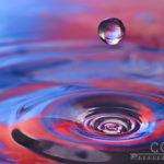 Floating Drop above Coil - Water Drop Photography - Caryn Esplin