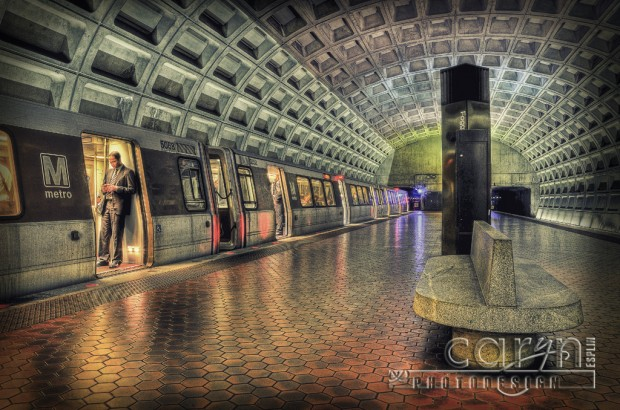 Washington DC Metro - Foggy Bottom Stop - Texting - Caryn Esplin