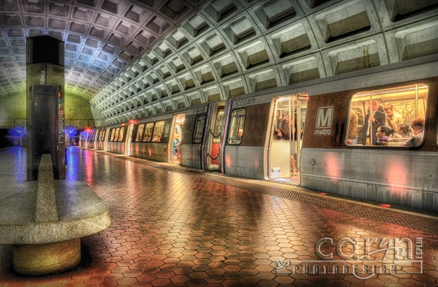 Washington DC Metro - Foggy Bottom Stop - Rush Hour - Caryn Esplin
