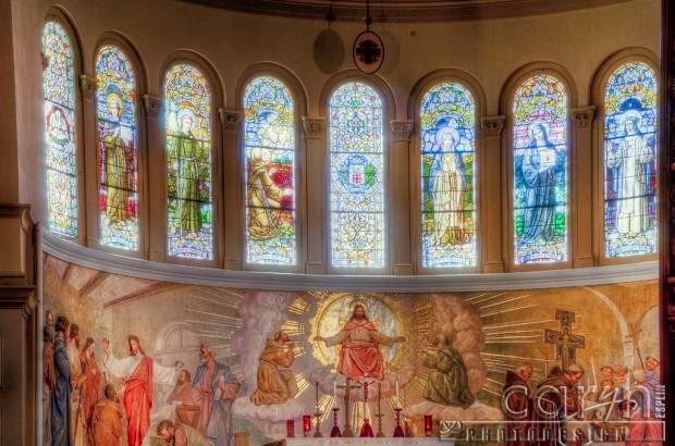 Stained Glass - National Franciscan Monastery of the Holy Land - Caryn Esplin