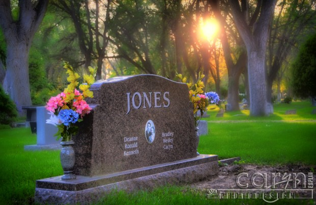 Caryn Esplin - Jones Headstone Back