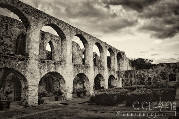 Caryn Esplin - San Juan Mission - Arched Wall - San Antonio, Texas