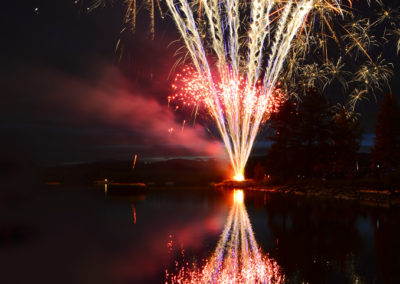 Fireworks over water!