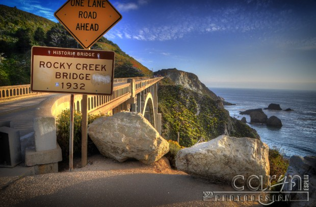 Big Sur Coast California - Rocky Creek Bridge Sign 1932 - Caryn Esplin