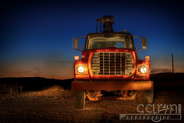 Light Painting - Old Ford Flatbed - Nephi Utah - Caryn Esplin