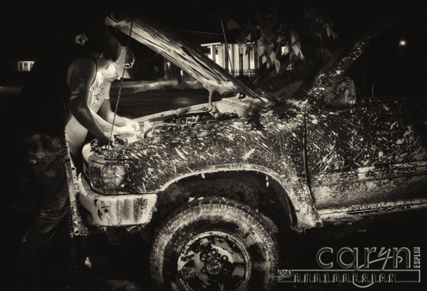 Light Painting - Mechanics B&W- Nephi Utah - Caryn Esplin