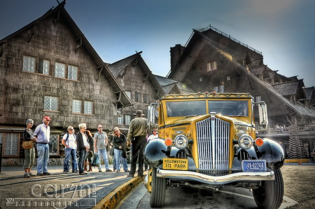 Load up! - Yellowstone Historic Park Bus Tours - Old Faithful Inn - Caryn Esplin