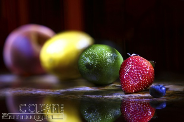 Light Painting Fruit - Manual blur control in camera with focus ring -  Caryn Esplin
