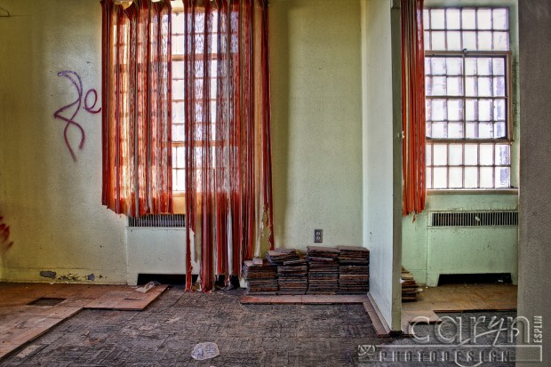 Caryn Esplin- Girls Reformatory - St. Anthony - Old Building - Red Drapes