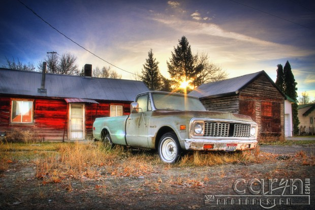 The Old Parker Store - Truck - Sunflare - Caryn Esplin - Parker Idaho