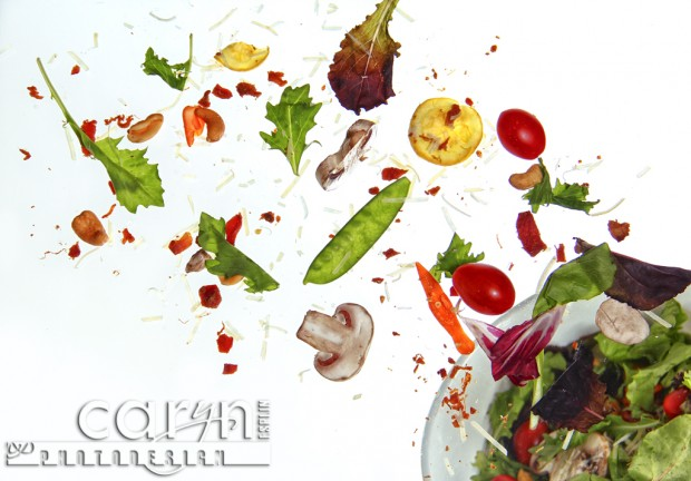 Food and Product Photography - Flying Salad - Tossed Salad - Caryn Esplin