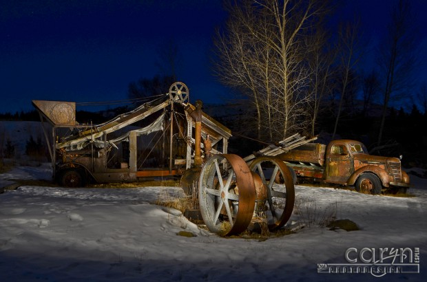 Virginia City, Montana - Gold Mining Equipment - Nevada City, Montana - Light Painting