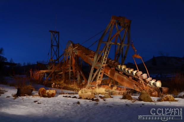 Virginia City, Montana - Gold Mining Dredge - Nevada City, Montana - Light Painting