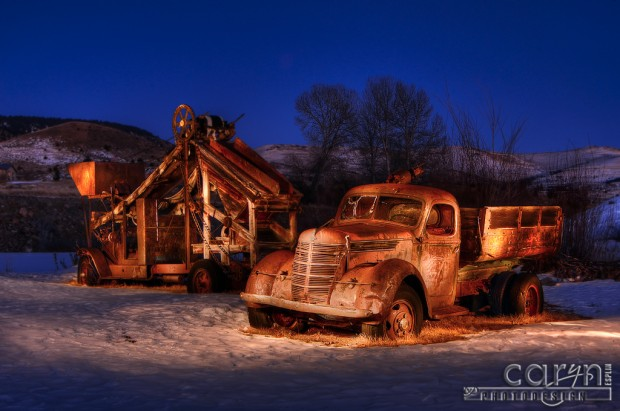 Virginia City, Montana - Gold Mining Old Truck - Nevada City, Montana - Light Painting