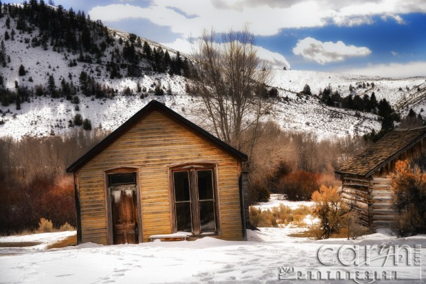 Bannack Ghost Town Montana - Main Street - Old School - Winter - HDR - BYU-I Photo Excursion - Caryn Esplin