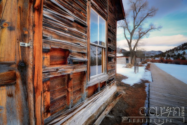Bannack Ghost Town Montana - Main Street - Winter - HDR - BYU-I Photo Excursion - Caryn Esplin