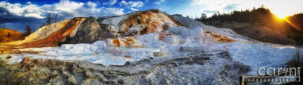 Caryn Esplin - Light Painting - Mammoth Hot Springs - iPhone 5
