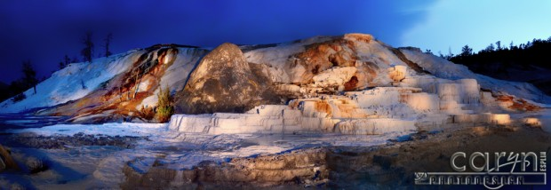 CarynEsplin-Panoramic-MammothHotSprings-Yellowstone-LightPainting