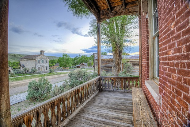 Hotel Meade Porch view - Bannack Ghost Town - Caryn Esplin