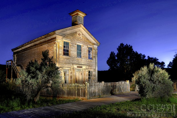 CarynEsplin-BannackGhostTown-MasonicTemple-Light Painting