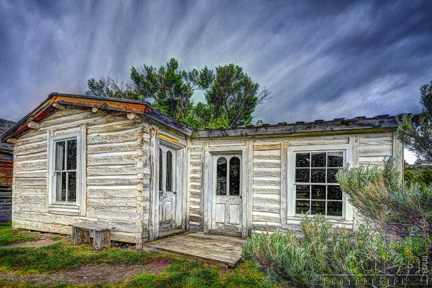 Storm brewing - old white house - Bannack Ghost Town - Caryn Esplin