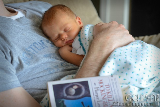 Newborn Baby Boy photos - Atticus - To Kill A Mockingbird - Rachel and Scott Odell - Caryn Esplin