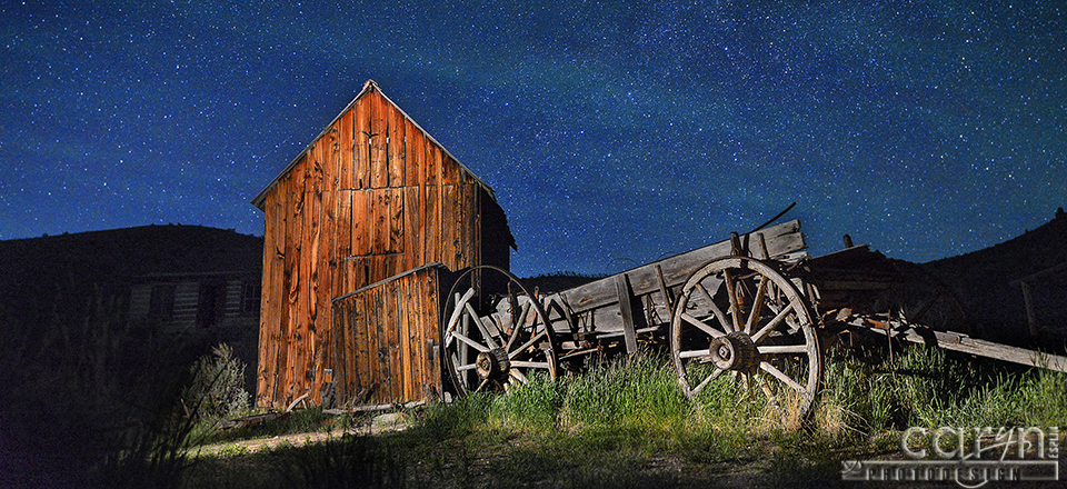 Starry Night – Bannack Ghost Town – Light Painting