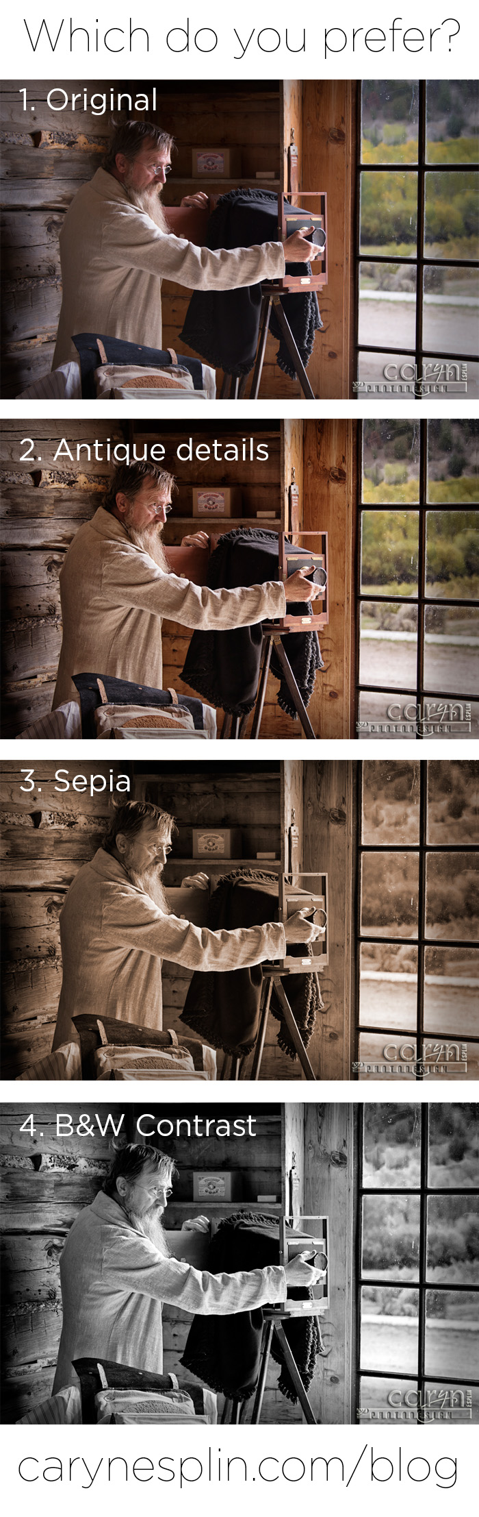 Which Style? - Caryn Esplin - Bannack Ghost Town - Living History Weekend - Photographer