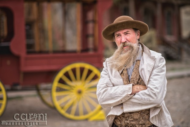 Mark and his wagon - Bannack Living History - Caryn Esplin
