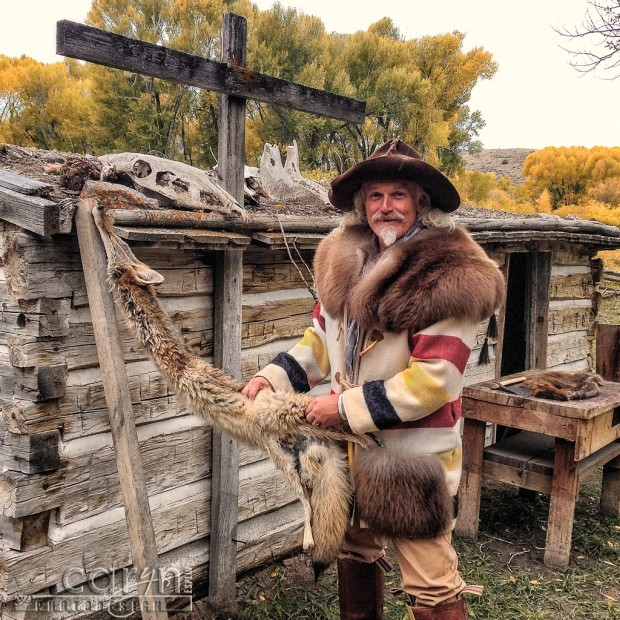 Trapper Jake and the fox - Bannack Living History