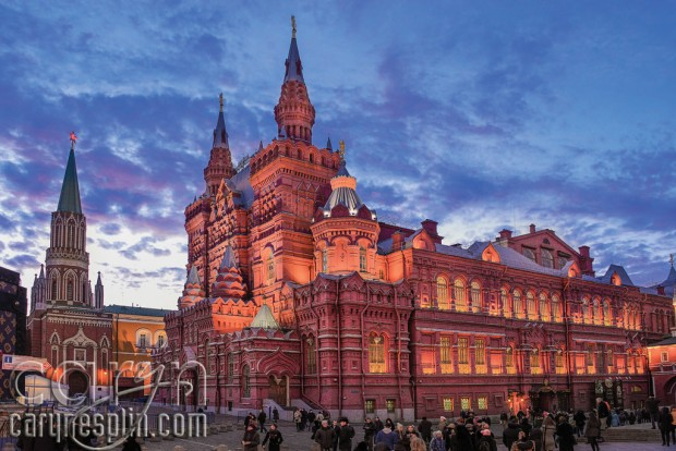 Red Square Sunset - Colors - Moscow, Russia - Caryn Esplin