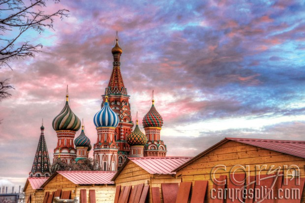 Red Square Sunset - Colors - Moscow, Russia - Caryn Esplin - St. Basil's Cathedral