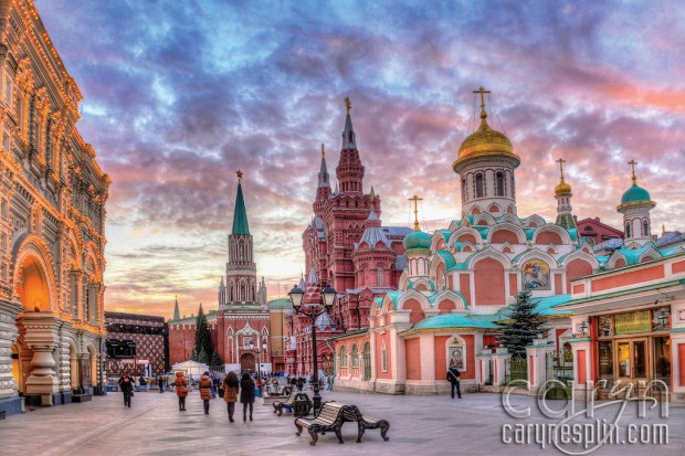 Red Square Sunset - Colors - Moscow, Russia - Caryn Esplin - Sky