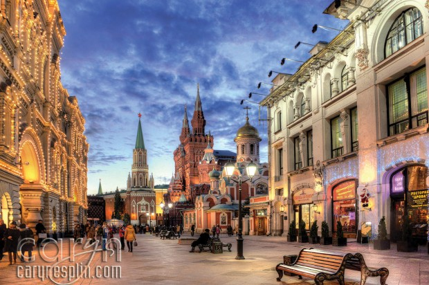 Red Square Sunset - Colors - Moscow, Russia - Caryn Esplin - Shops - Gum Mall