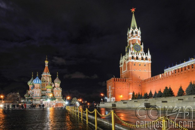 Red Square, Kremlin, Moscow, Russia, night photography