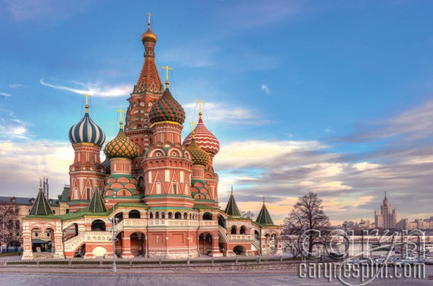 Side view, St. Basil's Cathedral - Red Square, Moscow, Russia, Kremlin